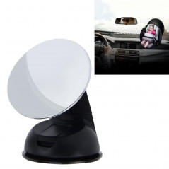 Car Auto 360 Degree Adjustable Baby View Mirror Rear Baby Safety Convex Mirror, Diameter: 85mm(Black)