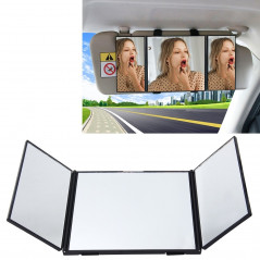 SHUNWEI Car Sun Visor Adjustable Mirror Car Makeup Sun-shading Vehicle Mounted Cosmetic Mirror Folding Vanity Mirror Triple Fold