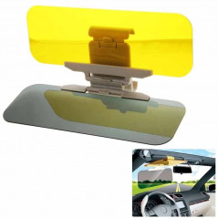2 in 1 HD Car Anti-Glare Dazzling Goggle Day Night Vision Driving Mirror Sun Visors