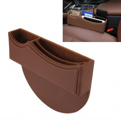 Car Seat Crevice Storage Box with Interval Auto Gap Pocket Stowing Tidying for Phone Pad Card Coin Case Accessories (Brown)