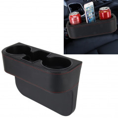Car Seat Crevice Storage Box Cup Drink Holder Auto Pocket Stowing Tidying for Phone Pad Card Coin Case Car Accessories(Black)