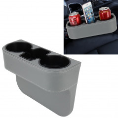 Car Seat Crevice Storage Box Cup Drink Holder Auto Pocket Stowing Tidying for Phone Pad Card Coin Case Car Accessories(Grey)