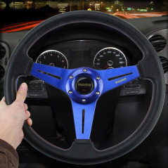 Volant de Sport Racing - Momo - 35 cm - Couleur bleu CAR Steering Covers - 1
