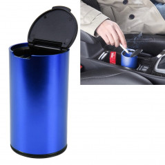 JG-036 Universal Portable Car Auto Stainless Steel Trash Rubbish Bin Ashtray for Most Car Cup Holder (Blue)
