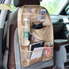 Auto Car Seat Back Organizer Car Seat Hanging Bag Storage for Drinks Cups Phones and Other Items (Khaki)