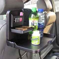 SHUNWEI SD-1503 Vehicle Multi-function Foldable Tray Back Seat Table Drink Food Cup Holder Travel Dining Tray Organzier