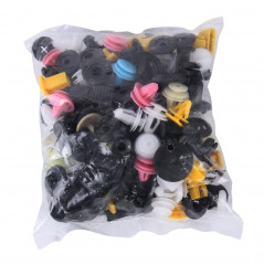 100 PCS Hole Plastic Rivets Fastener Push Clips