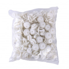 100 PCS Hole Plastic Rivets Fastener Push Clips(White)