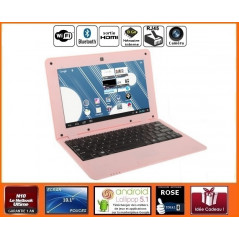 Netbook Rose Android HDMI écran 10.1 pouces (Wifi-SDHC) NETBOOK 10P SERIE 0143 - 1