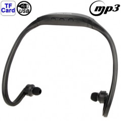 Casque de sport - Lecteur MP3 WMA WAV- Port Micro-SD et USB - Noir MP3 Player - 1