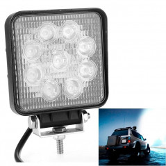 27W Bridgelux 2150lm 9 LED White Light Floodlight Engineering Lamp / Waterproof IP67 SUVs Light, DC 10-30V(Black)