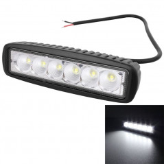 18W 1440LM Epistar 6 LED 25 Degree White Fog Beam Car Work Lamp Bar Light Waterproof IP67, DC 10-30V