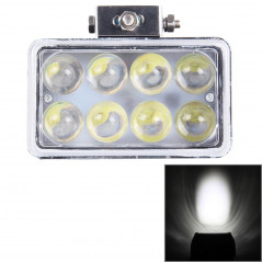 4 inch DC 9-36V 40W 3800LM 6000K IP67 Waterproof Squared Car Spotlight Fog Spot Light Foglight LED Car Bulbs with 8 LED Lights(W
