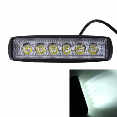 DC 10-30V 18W 1500LM 6500K Waterproof Vehicle Car Boat Marine External Work Lights Emergency Lights 30 Degrees Adjustable Spot L