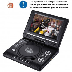 DVD player Portable Multimedia - Black - Screen 7.5-inch - Console games - USB/SD