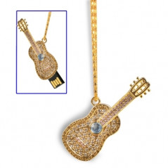 Collier pour guitare style USB 2.0 Flash Disk, 8 Go (doré) Flash Drive USB - 1
