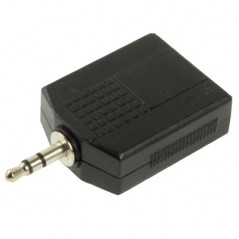 Adaptateur audio male 3.5mm vers 2 Femelles 6.35mm NO-NAME - 2