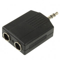 Adaptateur audio male 3.5mm vers 2 Femelles 6.35mm NO-NAME - 3
